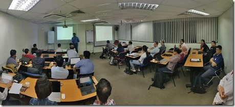 Azure Machine Learning and AI Workshop at COMAT Singapore.