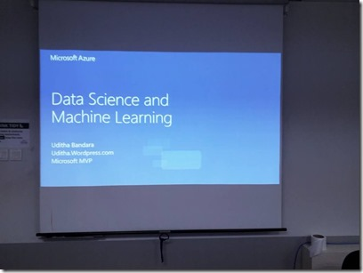 Machine Learning and AI Workshop at Singapore.