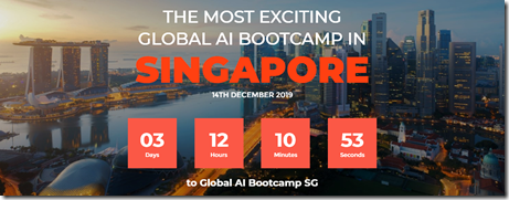 Global AI Bootcamp , Singapore.